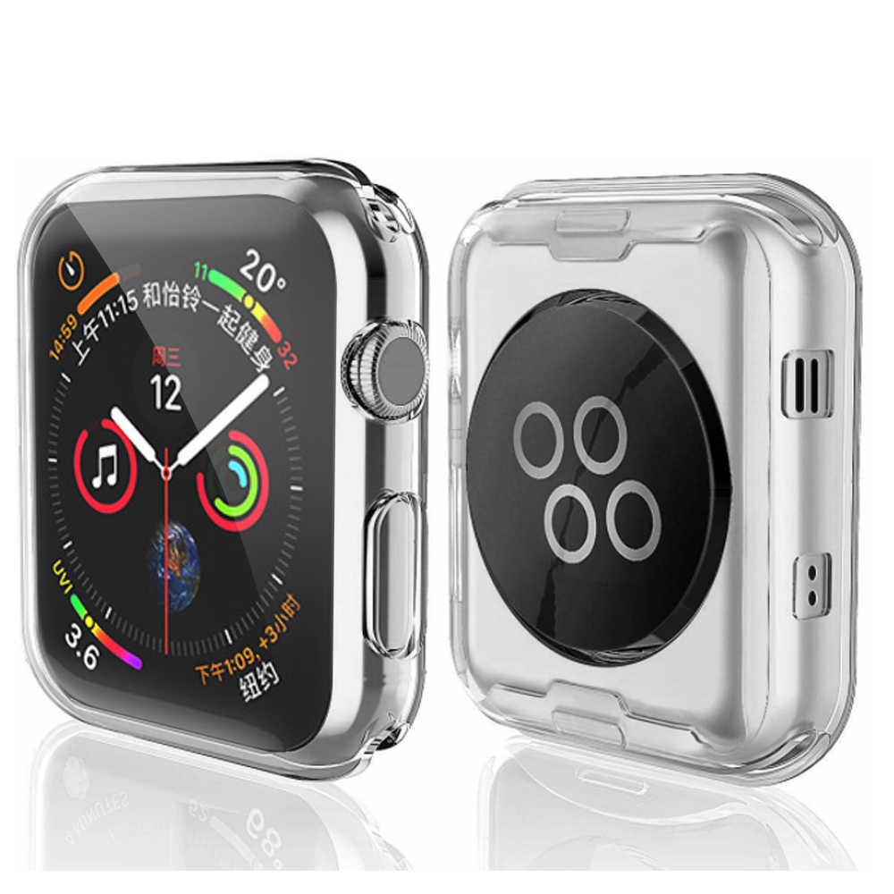 Voor Apple Horloge Case 4 3 2 1 40 Mm 44 Mm 360 Ingebouwde Clear Tpu Screen Protector Cover volledige Case Voor Iwatch 5 38 Mm 42 Mm Accessorie