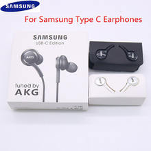 Original samsung galaxy note 10 + tipo c fones de ouvido in-ear com fio mic controle de volume USB-C fone de ouvido para a90 a80 a60 a8s huawei p30
