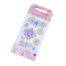 Acrylic Drill Stickers Childrens DIY Mobile Phone Decor Hand-Paste Resin Rhinestones Flower For Women