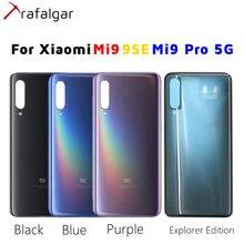 Dla Xiaomi Mi 9 tylna szklana pokrywa baterii Mi9 Pro 5G tylna obudowa obudowa drzwi dla Xiaomi Mi 9 SE pokrywa baterii z taśmą samoprzylepną