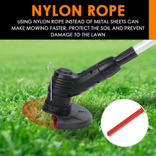Cutter Machine Edger Power-Tool-Kits Cordless-Lawn Garden with Zip-Ties Mowing Electric-Grass-Cutter