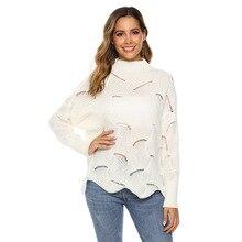 цена на knit sweater women turtleneck loose sweater top women pull femme pullover invierno 2019 oversized sweater
