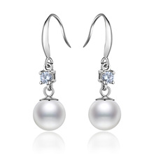 Explosion Models Pearl Earrings Fashion S925 Silver Jewelry Elegant Temperament Pendant Ladies