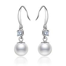 купить Explosion Models Pearl Earrings Fashion S925 Silver Earrings Jewelry Elegant Temperament Pendant Earrings Ladies Jewelry по цене 650.66 рублей