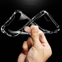 Тонкий прозрачный чехол для iPhone X XS MAX XR 6 7 6S 8 Plus 5 se Phone футляр для redmi 4x/note4 note5 redmi 5/6 plus 6a f1