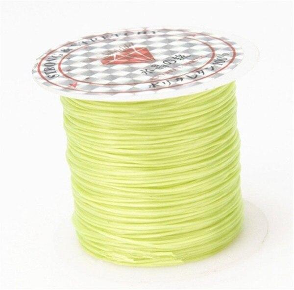 393 дюйма/рулон, крепкий эластичный шнур для бисероплетения с кристаллами, 1 мм, для браслетов, стрейчевая нить, ожерелье, сделай сам, для изготовления ювелирных изделий, шнуры, линия - Цвет: Color 10
