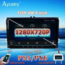 PX6 لسيارات فولكس فاجن/فولكس فاجن/باسات B7 B6/جولف 5 6/بولو/سكودا/سيات/ليون راديو سيارة 2 din أندرويد 10 دي في دي نظام تحديد المواقع autoradio autoradio audio 4G