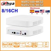 Original Dahua NVR NVR2108 4KS2 NVR2116 4KS2 8CH 16CH 4K Network Video Recorder H.265 IP Camera CCTV system for Security Home