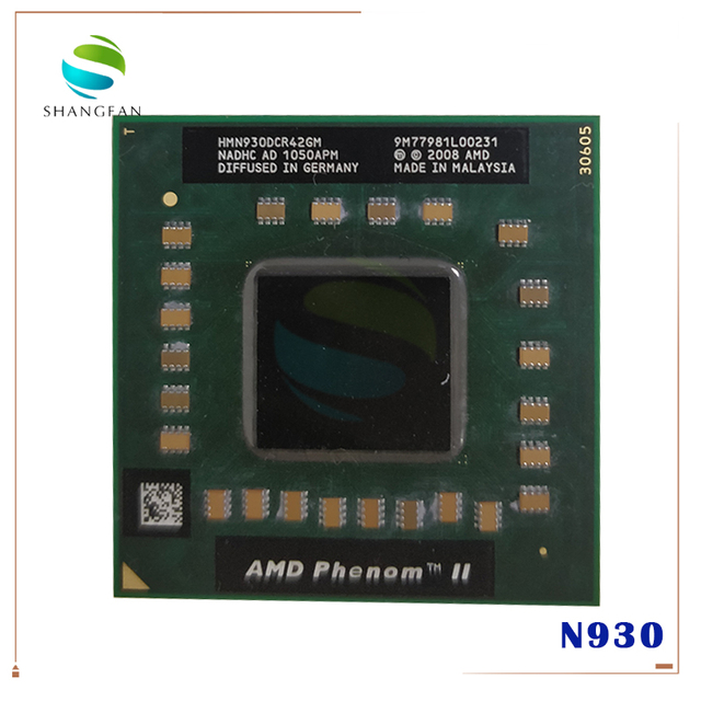 AMD Phenom processeur dunité centrale N930 HMN930DCR42GM 2.0Ghz/2M Socket S1 638 broches PGA ordinateur cpu