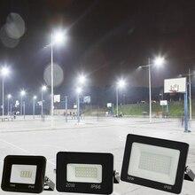 Светодиодный настенный светильник 10 Вт 20 Вт 30 Вт 50 Вт 100 Вт Светодиодный прожектор RGB AC85-265V прожектора для поиска светодиодный светильник Встраиваемый светодиодный уличный светильник s