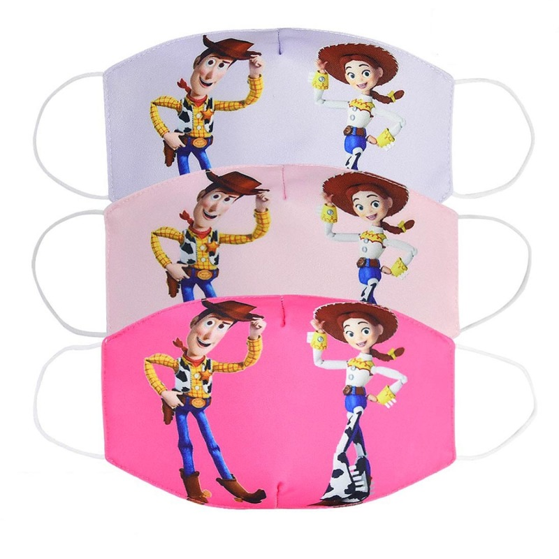 2020 New Cartoon Face Masks Men Women Kids Cotton Anti Dust Cover Unisex Breathable Mouth Mask ZXT206