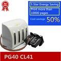Энергосберегающая чернильная система PG40 CL41  5 звезд  использование для принтера PIXMA iP1800 iP1200 iP1900 iP1600 MX300 MP160 MP140  СНПЧ