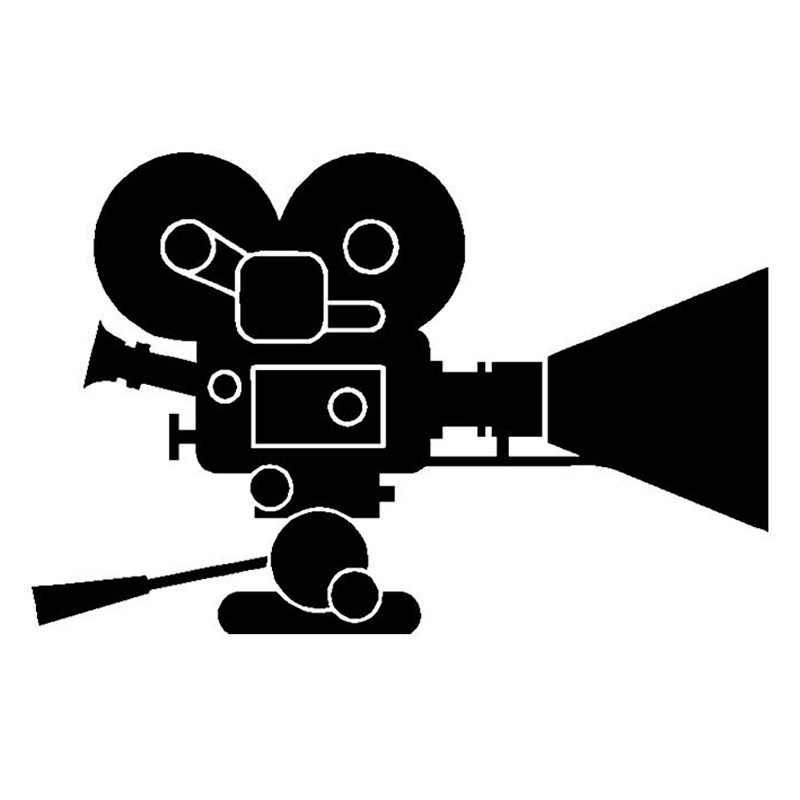 14.8*9.7CM intéressant film caméra décalcomanie vinyle noir voiture autocollant garde-boue accessoires pour Peugeot Honda Mitsubishi Jeep Cherokee