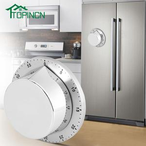 Image 2 - Roestvrijstalen Keuken Timer Met Magnetische Basis Handleiding Mechanische Koken Timer Countdown Koken Gereedschap Keuken Gadgets