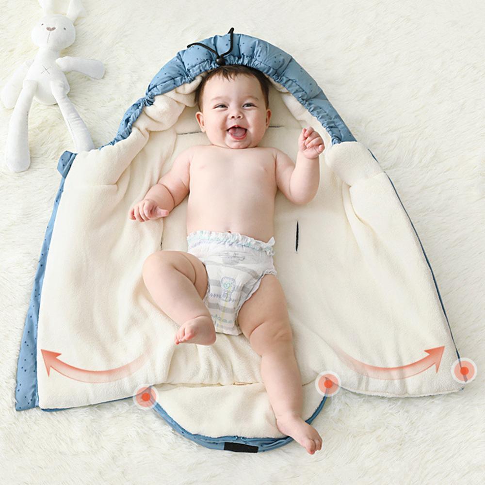 Winter Outdoor Baby Stroller Universal Fleece Footmuff Sleeping Bags for Baby Cocoon Sleepsacks Soft Warm Envelope For Newborn Comforters & Duvets     - title=