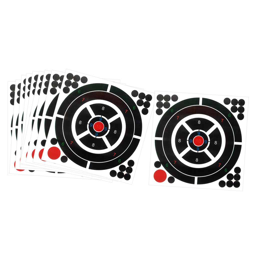 10Pcs Self-Adhesive  Targets 12x12inch Glow Fluorescent Paper Target