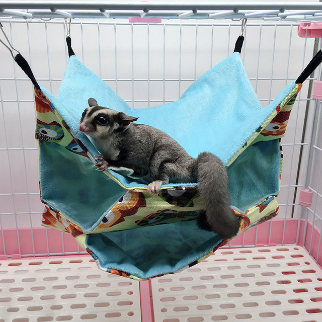 Triple Layers Pet Cage Hammock Guinea Pig Bedding Cage for Small Parrots Squirrel Hamster DTT88