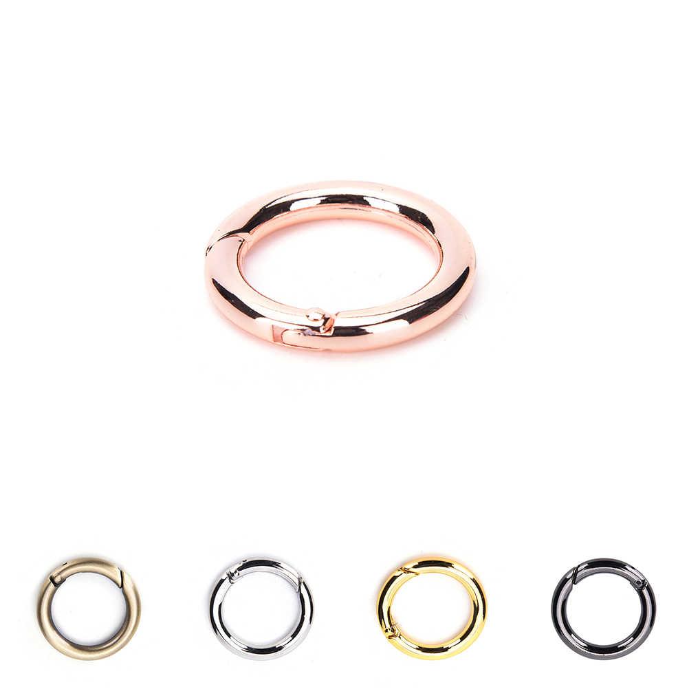 1pcs รอบ Carabiner Snap CLIP Trigger Spring Keyring BuckleSpring O แหวน Hook O แหวนสำหรับกระเป๋า DIY กระเป๋าอุปกรณ์เสริม