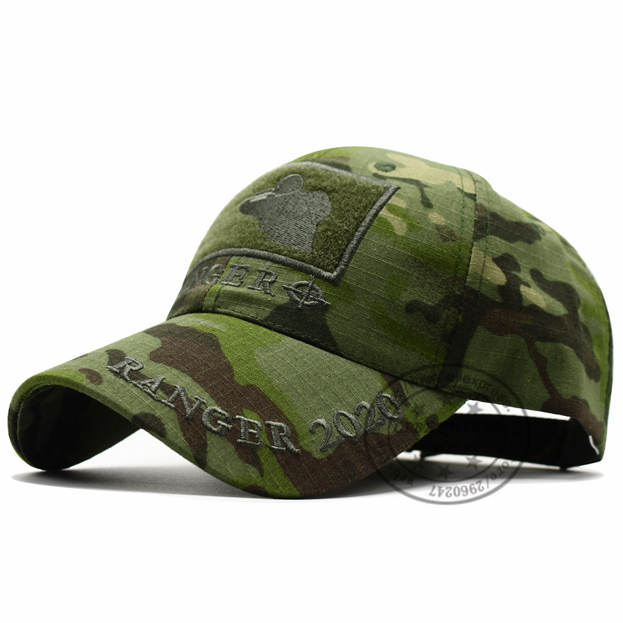 CAPSHOP MultiCam Sniper Ranger 2020 Embroidered Ball Cap Military Army Operator hat Tactical CP OD Cap with Loop for Patch 6