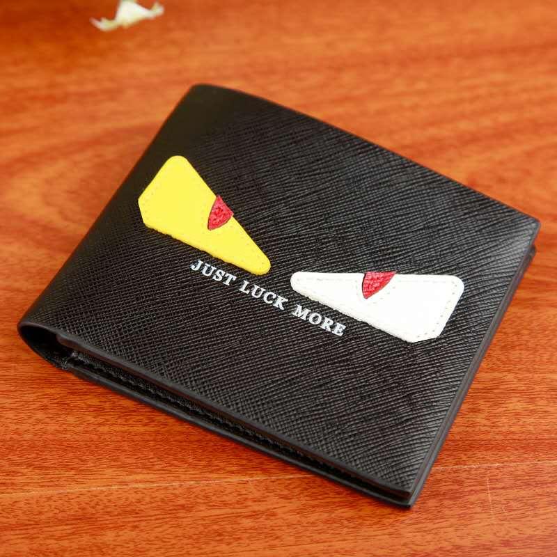 Men's Wallets Fashion Coin Bag Little Monster Money Purses Dollar Korean Version Of The Plaid Slim Purse Money Clip Buckle 455