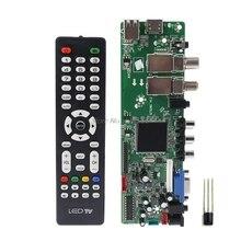 DVB S2 DVB T2 DVB C Digitale Del Segnale ATV Acero Driver LCD Scheda di Controllo Remoto Launcher Universale Dual USB Media QT526C V1.1 T. S5