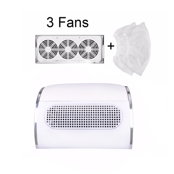 60W Nail Suction Dust Collector Large Size Strong Vacuum Cleaner Machine With 3 fans 2 bags EU/US Plug Salon Tool - discount item  30% OFF Nail Art & Tools