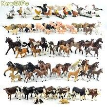 44 loại ngựa bộ sưu tập 68 loại động vật nông trại dòng Gà vịt ngỗng Thiên Nga Con Lợn Chó Mèo bò cừu Đồ chơi mô hình trẻ em Quà tặng
