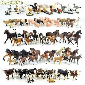Image 1 - 44 tipi di cavallo collezione 68 tipi di animali da fattoria serie di Pollo anatra oca swan maiale cane gatto mucca pelle di pecora giocattoli di modello regalo dei bambini