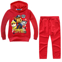 Genuine Paw Patrol fashion girl Baby Clothing Children's Hoodie Kids Spring and Autumn Sweater Set