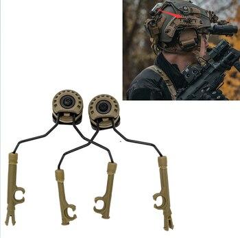 TAC-SKY Tactical COMTAC I II III IV Hunting noise reduction shooting headset military adapter ARC helmet rail OPS-CORE bracket tac sky tactical headset fast ops core helmet arc rail comtac bracket and new removable tpe peltor comtac i ii ii iv headband
