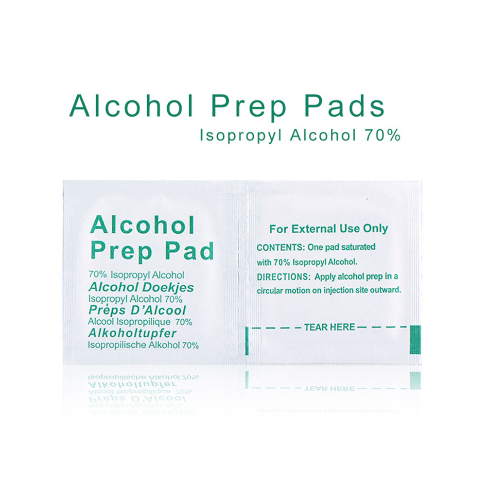 50PCS Portable Professional Alcohol Swabs Pads Wet Wipes 70% Isopropyl Home Skin Cleanser Sterilization