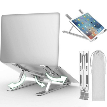 Portable Laptop Stand Aluminium Foldable Macbook Pro Support Adjustable Notebook Holder Base For Tablet PC Computer Accessories