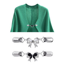 1 Pc Neue Schmetterling Pullover Clip Schal Taste Strickjacke Engen Clip Brosche Clip Zubehör Schal Clip