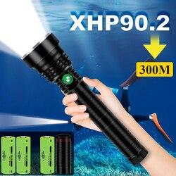 300M IPX8 profesión xhp90 linterna de buceo xhp70 lámpara subacuática xhp90.2 linterna de buceo xhp70.2 LUZ DE BUCEO linternas de buceo
