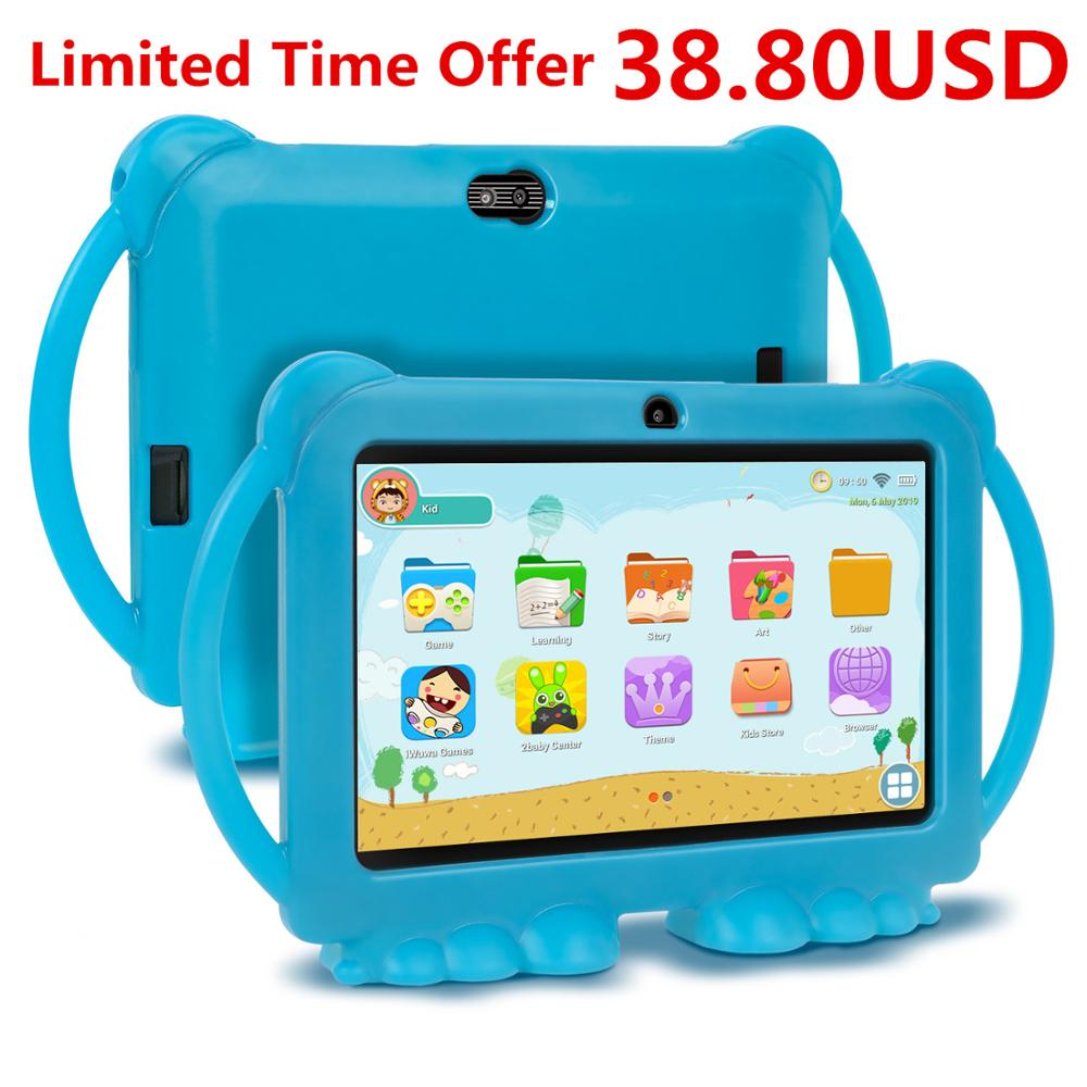 2020 XGODY Children Kids Learning Education Tablet Gift Kids Tablet 7inch HD With Silicone Case USB Charge Quad Core 1GB 16GB