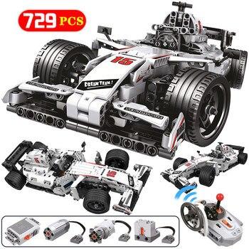 729pcs City Remote Technology Model Building Blocks for Technic RC F1 Racing Car Bricks Education Toys for Children