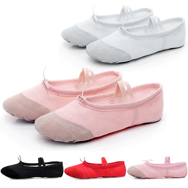 New Soft Yoga Slippers Gym Teacher Yoga Ballet Dance Shoes For Girls Women Ladies Gym Ballet Dancing Shoes Canvas Kids Children