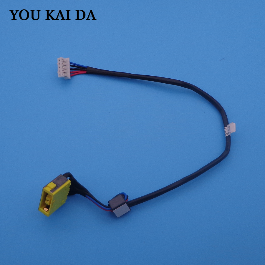Cable Length: 5 PCS Computer Cables New Laptop DC Power Jack with Cable for Lenovo G700 G700-5939 G710 Z710 DC Connector Laptop Socket Power Replacement