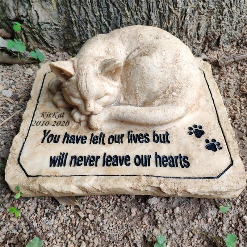 Pet Memorial Marker Cat Headstone Cat Grave Marker Pet Gravestone Cat Garden Sign Cat Memorial Plaque Personalized Cat Grave Marker