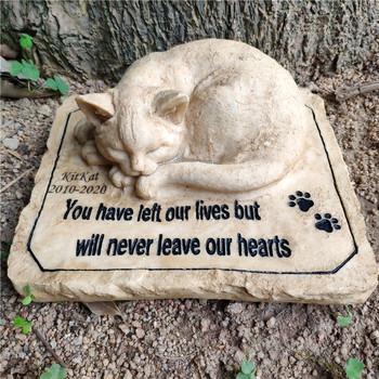 Spersonalizowane kamienie pamiątkowe dla kotów pamiątkowa biżuteria z motywem zwierząt domowych kamienie kamienie ogrodowe Grave markery wygraweruj z nazwą i datą JSYS tanie i dobre opinie 8 5 x 7 x 3 5 inches 2 0 pounds