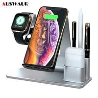 15 w 3 em 1 carregador sem fio para iphone 11 pro xs max airpods iwatch 1 2 3 4 5 caneta de toque qi carregador sem fio suporte suporte