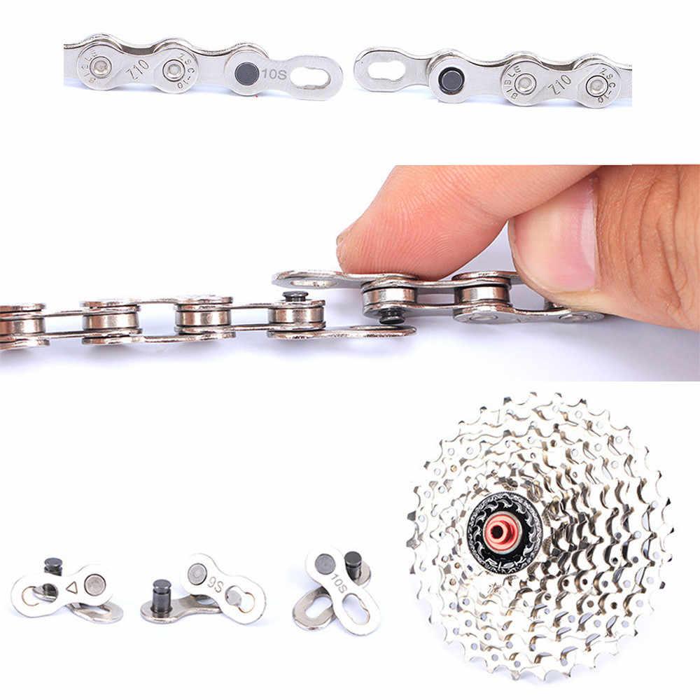 1 para rower łańcuch blokada drogi górski MTB łańcuch rowerowy złącze do A B C prędkość szybki ogniwo główne wspólne narzędzie do naprawy części