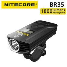 Оригинальный Nitecore BR35 1800 люмен с использованием OLED-дисплея высокой четкости, встроенный аккумулятор, перезаряжаемый луч дальнего и ближнего...