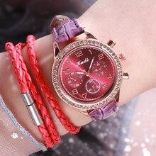 2020 Fashion Luxury Women Watches Black Leather Strap Wrist Watch for Stylish Ladies Quartz Clock Wristwatch Rorel Mujer