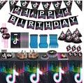 День рождения посуда настенное Бумага Знамени Бумага чашки ткани Бумага поддон Ножи, вилка и ложка вечерние комплект поставки