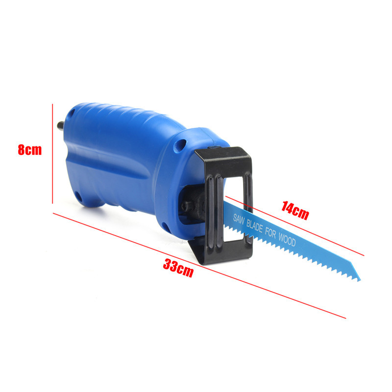 Tools : Reciprocating Saw Convert Adapter Metal Cutting Wood Tool Electric Drill Attachment With 3 Blades For Cordless Power Drill