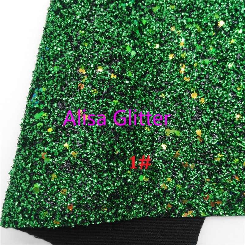 1 piezas A4 tamaño 21X29cm Alisa brillo verde brillo tela Caviar serpiente de cuero tejido cuero sintético PU para arco DIY C38B