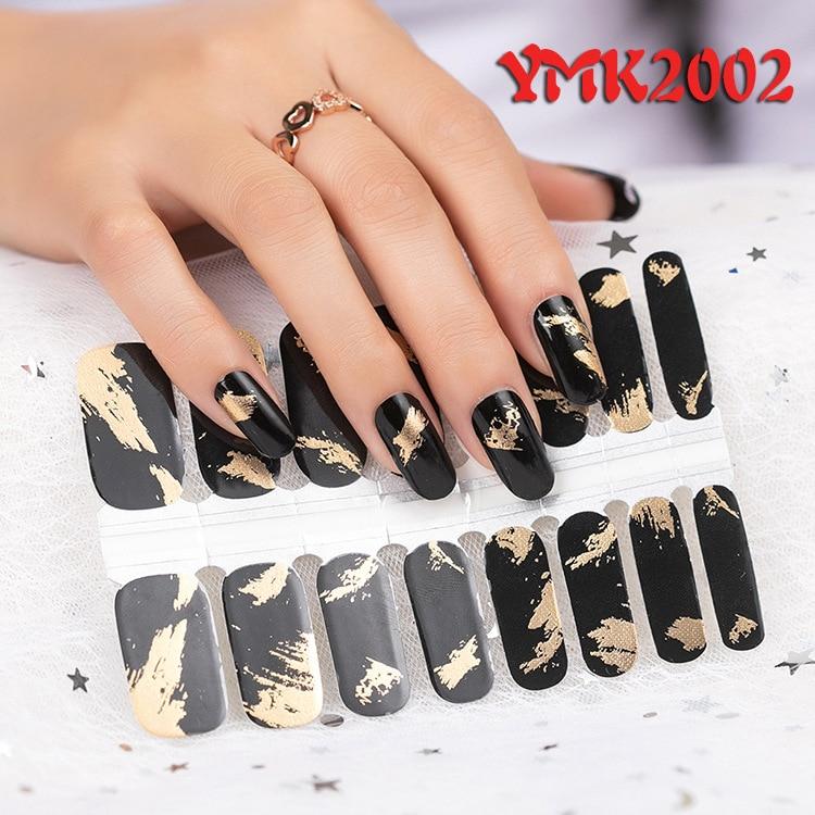 2020 Корея предназначен обертки блестящие, дизайн ногтей Стикеры наклейки многоцветная ногтей Стикеры s полоски «сделай сам» салонного маник...