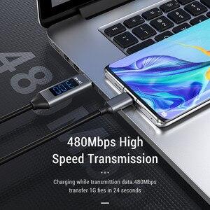 3а USB Type C кабель для телефона с напряжением тока Светодиодный дисплей Micro USB кабель для быстрой зарядки для Xiaomi Huawei USBC кабель для телефона