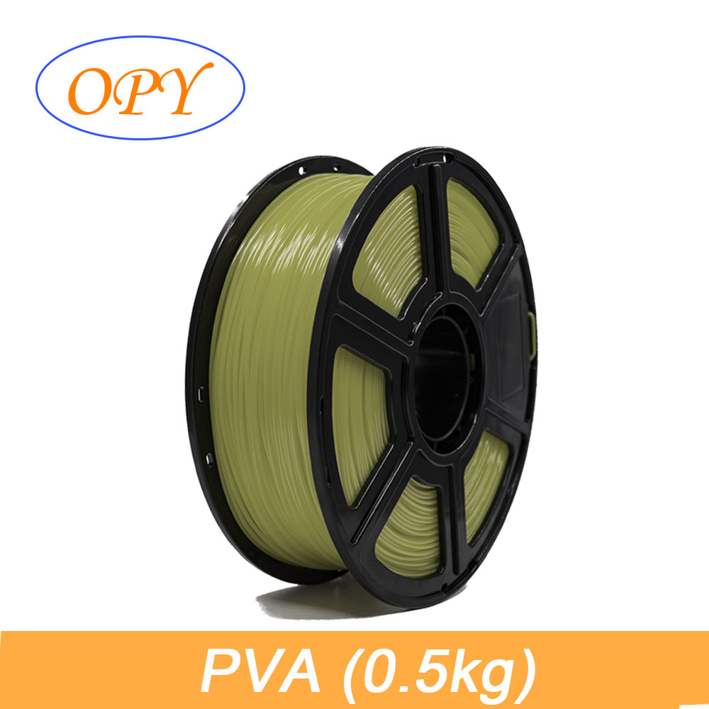 PVA Filament 1.75mm 0.5kg Water Soluble Polyvinyl Alcohol Washable Printing Support Material For PLA